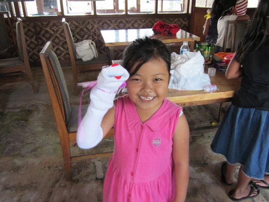 Sock puppet workshop