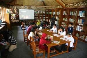 Children enjoying the books