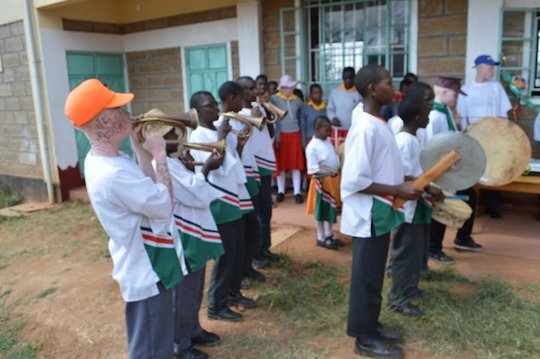 Students at St Lucy's School for the Blind