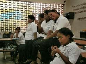 Carmela during the CAPTA course
