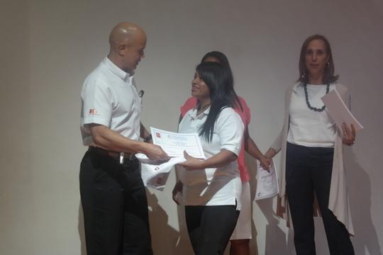 Carolina Receiving Her Diploma