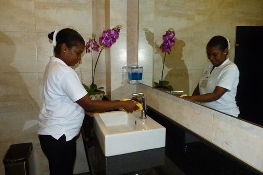 Teodora learning Housekeeping Secrets