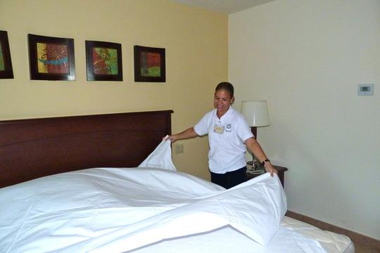 Blanca making a Fluffy Fresh Bed!