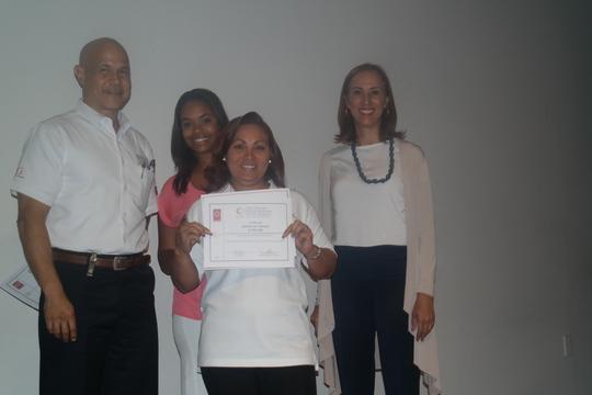 CAPTA woman receives her diploma
