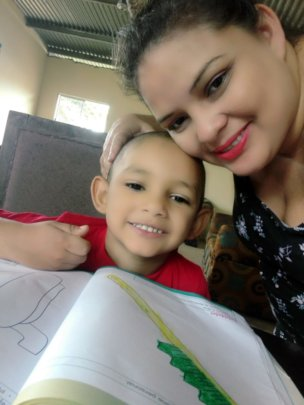 Martha, homeschooling her son
