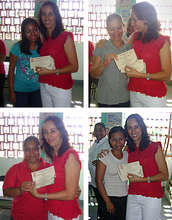 All the women received a scholarship certificate