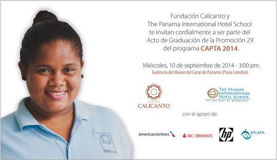 Her face in the graduation invitation