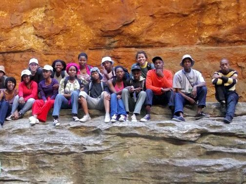 Masi students in the Cederberg Mountains