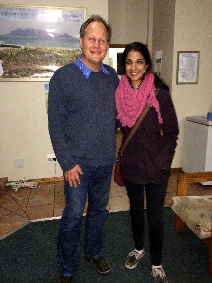 June, 2014: Gita & Peter (local partner) in SA