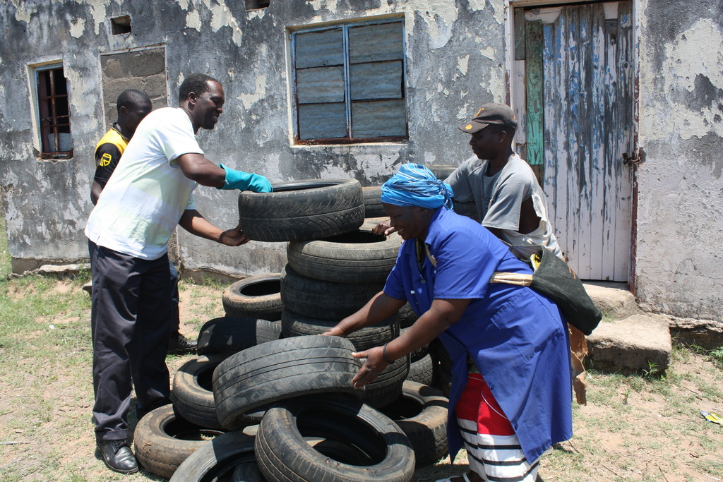 Tyres for playground