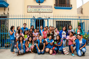 Some of our girls and staff at La Casa de Panchita