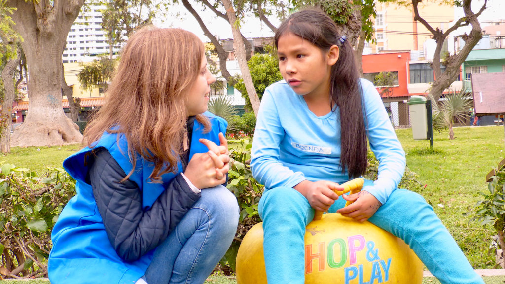 Girls learning to share and listen to each other