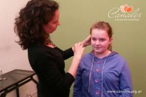 10 year old Zoe getting ready for the shooting