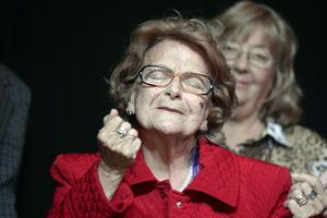 85 year old Celita giving a speech