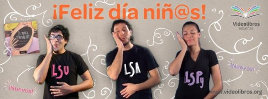 The same book in three different Sign Languages
