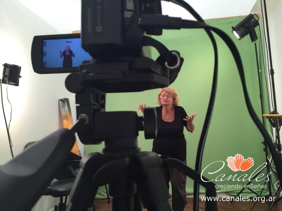 Celita at the studio