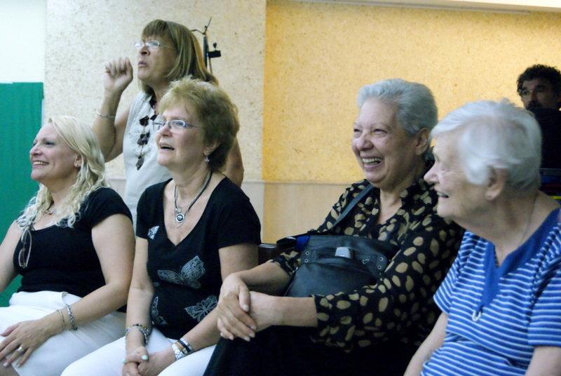 Deaf women enjoying during the film set