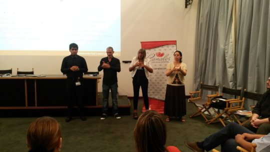 four sign language interpreters, four countries