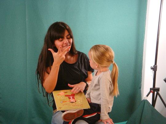 Carla reads to Julia