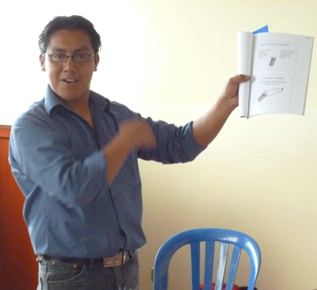 Carlos Teaching Electronics and Renewable Energy
