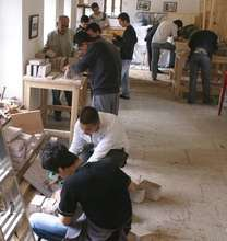 Classroom instruction for young stonemasons