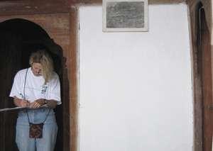 Volunteer prepares drawings of historic interiors