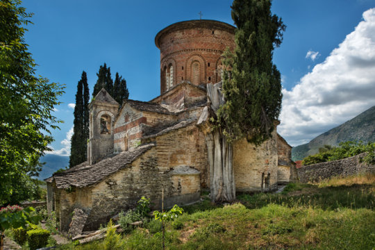 Endangered orthodox church in Gjirokastra district