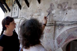 Prep work to save the city's unique wall paintings