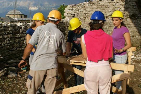 CHwB craftsman teaches wood conservation skills