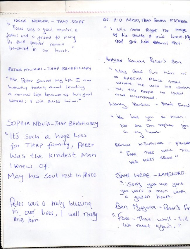 Notes from Supporters