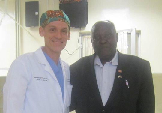 Peter Kamau with Dr. Moore at Tenwek