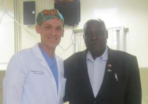 Peter Kamau with Dr. Moore at Tenwek