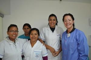 Hygienists-in-training &  Deborah McLynn Chiu