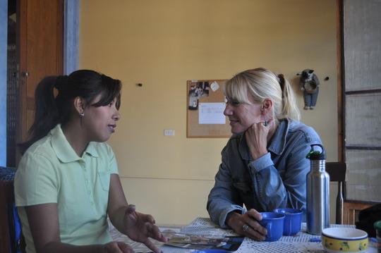 Sonja Sagari with Smiles Forever's Sandy Kemper