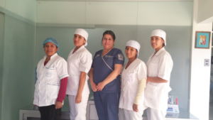 Shirley 2nd from left pictured with Dr. Quinteros