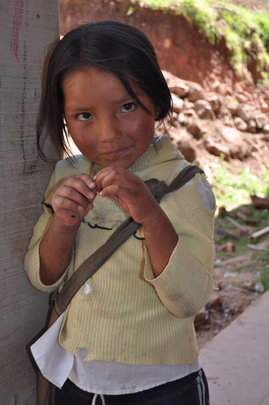 Beautiful Bolivian girl.
