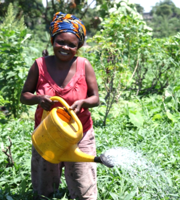 Agnes Kisandala, one of the first clients in DRC