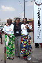 Opportunity DRC clients with their loan officer.