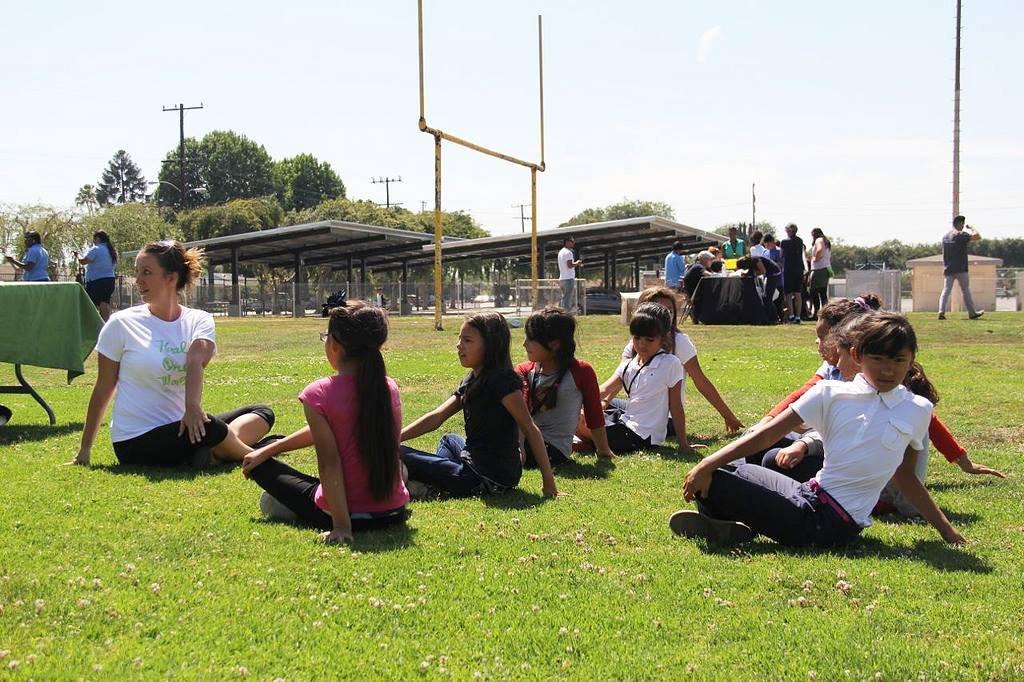 Yoga at Lynwood Elementary School