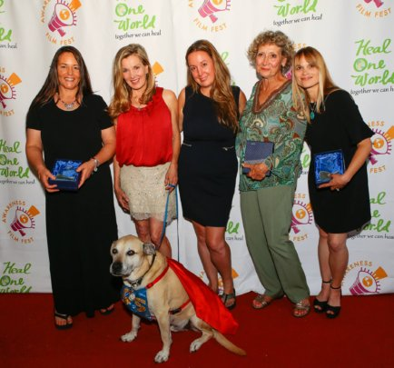 Four honorees at the Awareness Film Festival