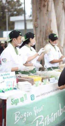 Serving free bibimbap