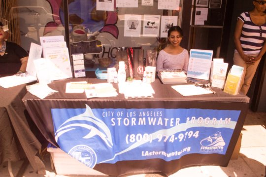 LA City Water Booth at our Health Fair