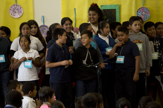 Fifth Graders from Logan Heights Sing Out!