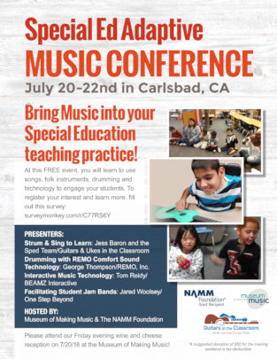GITC Adaptive Music Conference Flyer