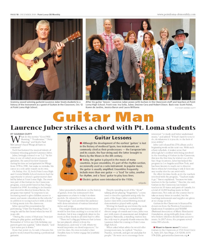 Laurence Juber Makes a Difference