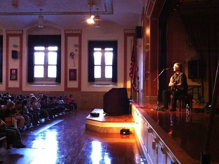 Laurence on stage at PS 230