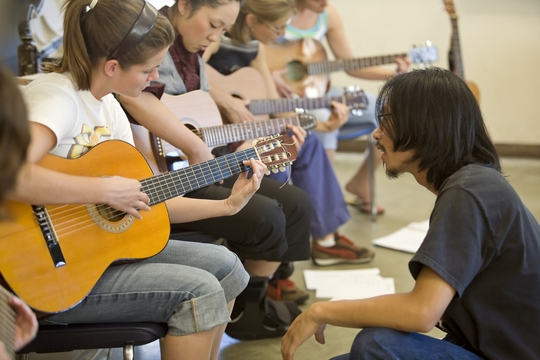 Student Teachers at UC Berkeley learn to play