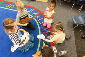 Little Songwriters Collaborate on Spelling Songs
