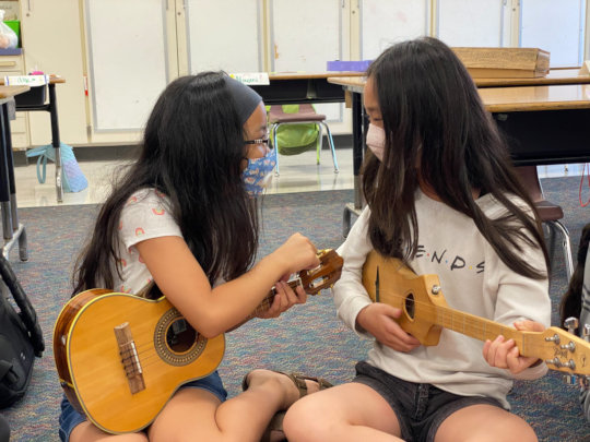 Music in the classroom creates connection!