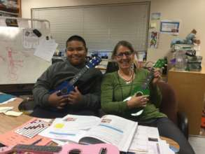 Terrie Catlow in Aurora, CO with a student